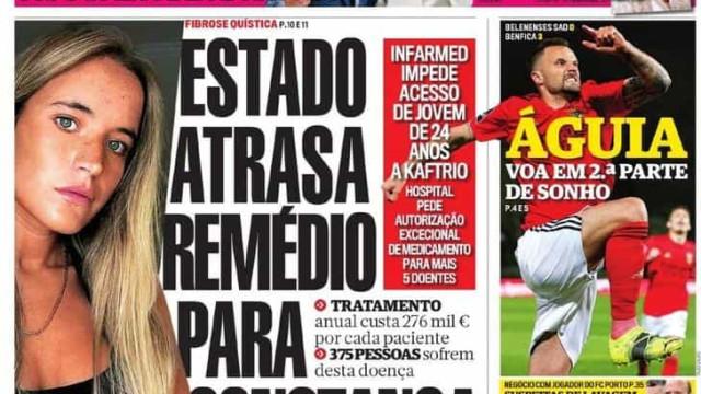 Hoje é notícia: Estado atrasa remédio; Estafetas vítimas de assaltos