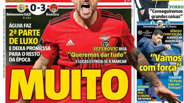 """Por cá: Benfica dá """"prova de vida"""" e FC Porto vai """"com tudo"""""""