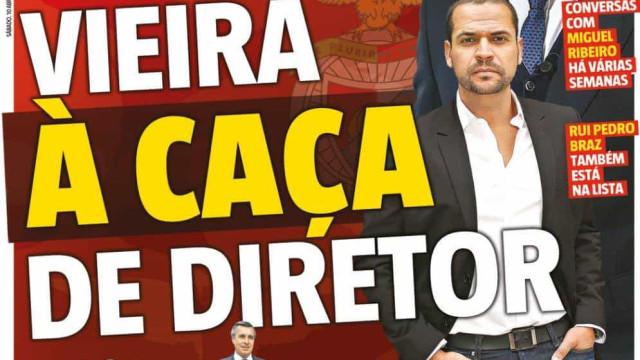 Por cá: Marcação cerrada ao líder e Vieira 'à caça' de diretor