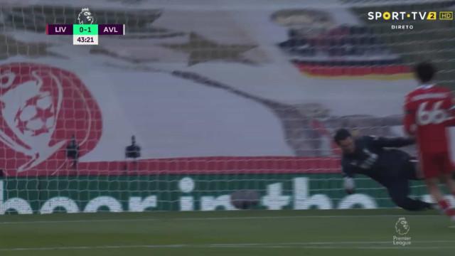 Aston Villa 'atordoa' Liverpool e Alisson não fica nada bem na fotografia