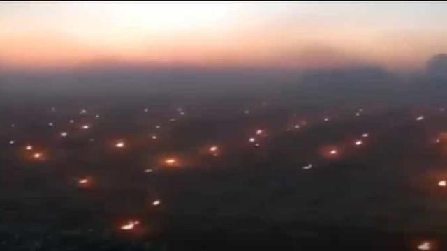 França. Vinicultores acendem milhares de velas para combater geadas