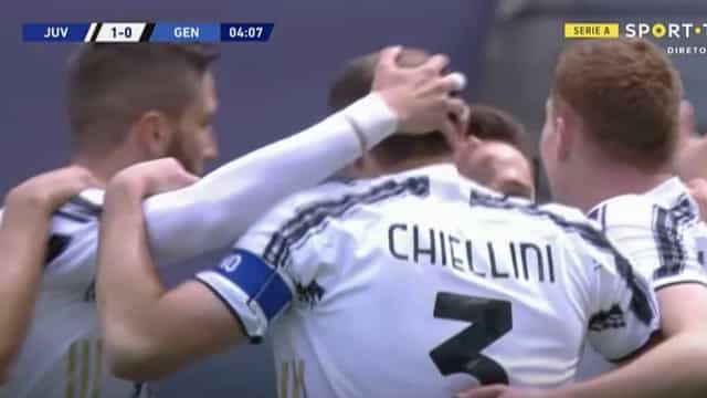 Juventus precisou apenas de quatro minutos para se colocar a vencer