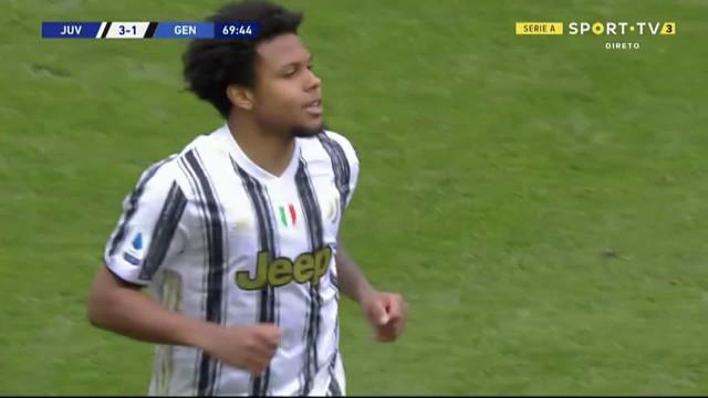 McKennie precisou de dois minutos para fazer estragos no Juventus-Genoa