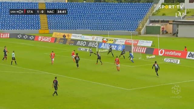 Defesa do Nacional meteu água e Santa Clara fez o segundo golo nos Açores