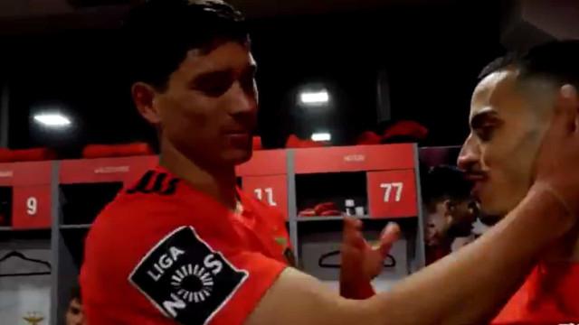 As imagens de bastidores da goleada do Benfica em Paços de Ferreira