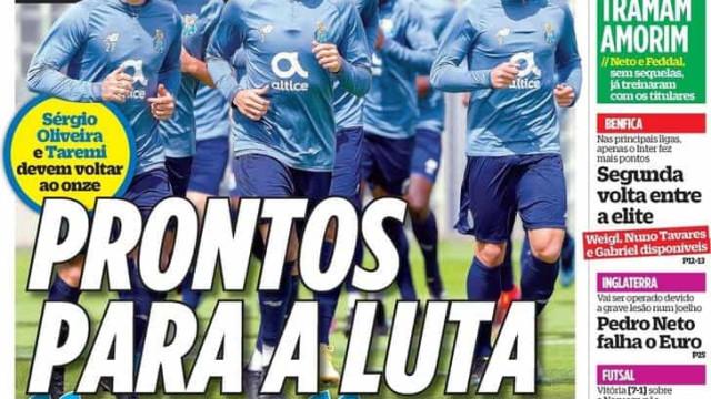 """Por cá: FC Porto e Benfica acreditam (e há """"guerra"""" na I Liga)"""