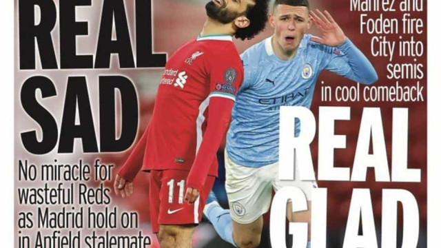 Lá fora: Ingleses divididos pela Champions e Itália à espera da AS Roma