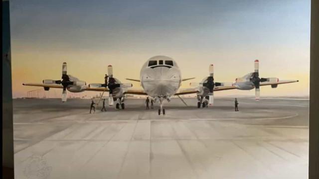 Dia do Desenhador. Força Aérea partilha vídeo de tela pintada a óleo