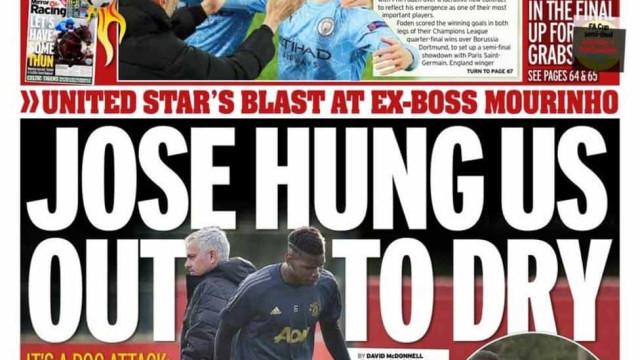 Lá fora: Mourinho e Pogba 'roubam' atenções em Inglaterra