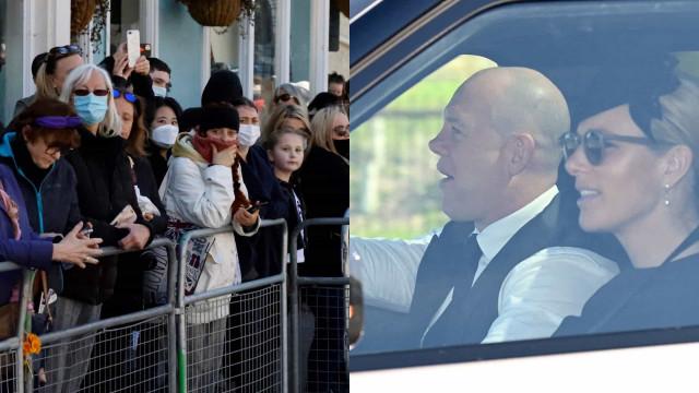 Dezenas de pessoas e a chegada da família real no funeral de Filipe
