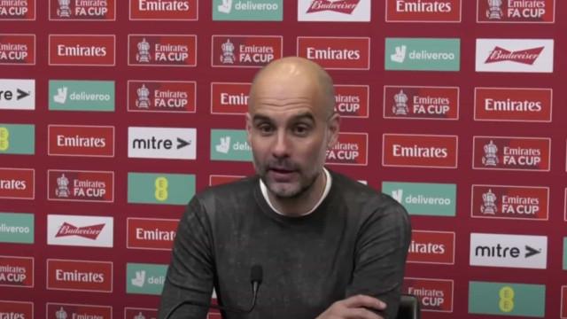 Guardiola 'pega-se' com jornalista após eliminação na Taça de Inglaterra