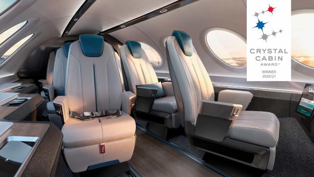 Almadesign concebe interior premiado da cabina do primeiro avião elétrico