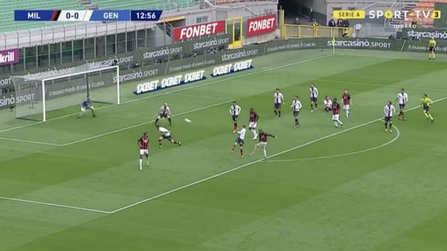 Rebic precisou de 13 minutos para abrir as contas no AC Milan-Genoa