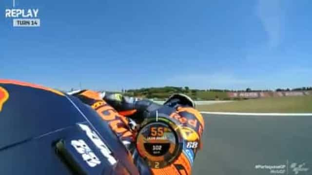 Para esquecer: Miguel Oliveira caiu na sexta volta do GP de Portugal