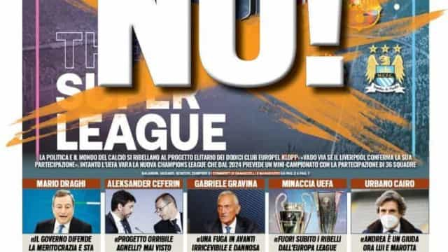 Lá fora: Oposição à Superliga Europeia patente na imprensa internacional