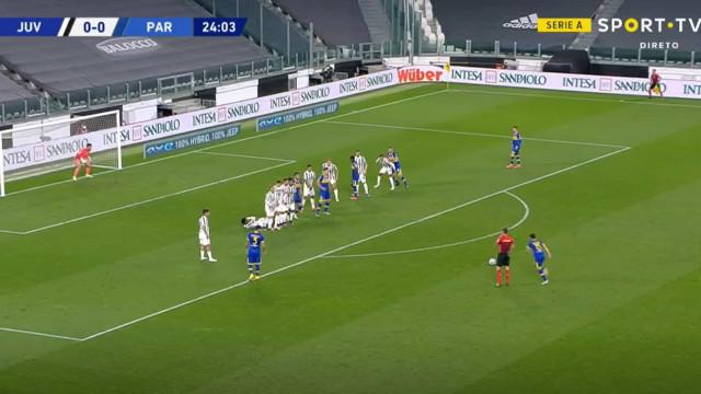 Golaço colocou Parma a vencer diante da Juventus