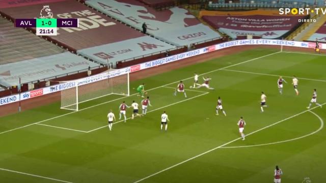 Bernardo Silva brilha no Villa Park: Português assistiu nos dois golos
