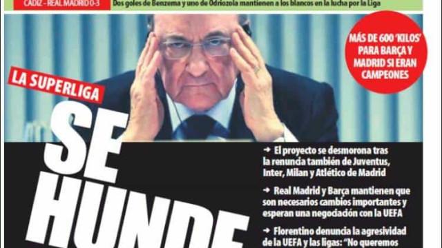 """Lá fora: Cristiano Ronaldo """"a seco"""" e ainda o """"Superfracasso"""""""