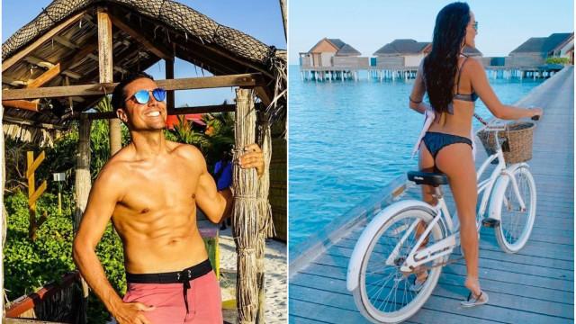 Novidades das Maldivas: Ricardo Pereira e a mulher vivem dias de sonho