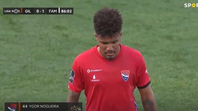 Ygor Nogueira deixou Gil Vicente reduzido a dez depois deste lance