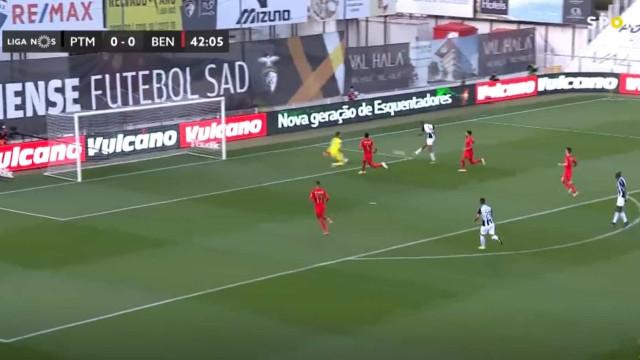 Beto continua a fazer estragos e abriu o marcador frente ao Benfica
