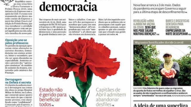 Hoje é notícia: Só 10% creem viver em democracia; O plano de fuga