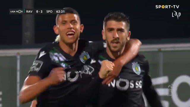 O golaço de Paulinho que ampliou a vantagem do Sporting em Vila do Conde