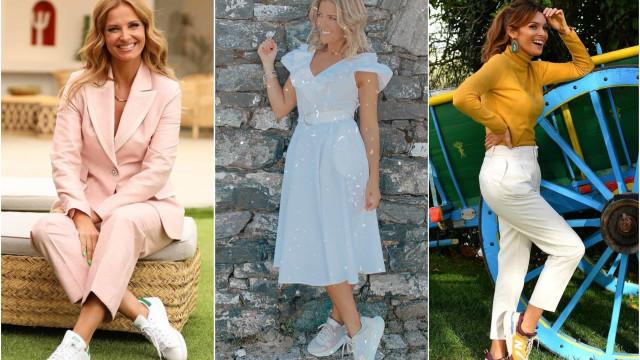 Looks elegantes com ténis: Inspire-se nestas 10 apresentadoras