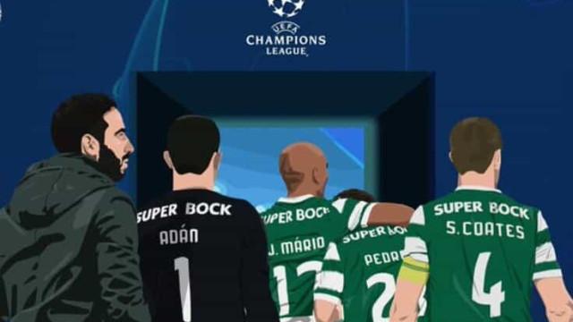 Sporting assinala regresso à Champions e jogadores exultam com o feito