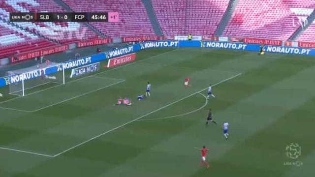Artur Soares Dias assinala penálti para o Benfica, mas VAR anula
