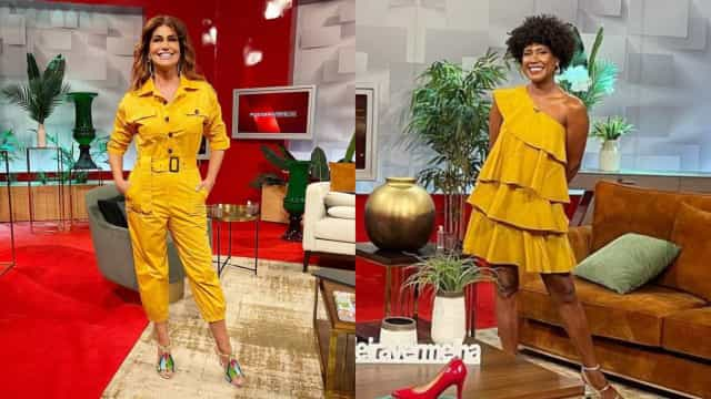 Semana do amarelo? Liliana Campos e Mariama Barbosa com looks vistosos