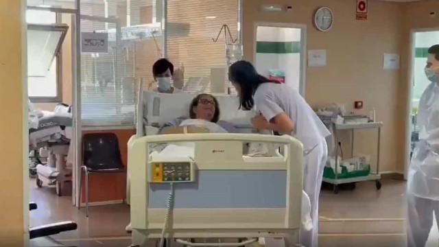"""Vídeo. """"Ficámos sem doentes Covid-19 em estado crítico. É possível"""""""