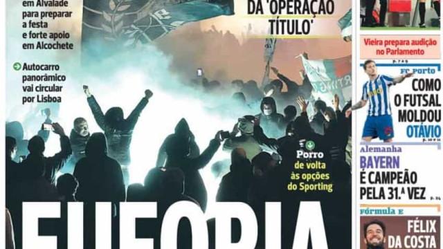 """Por cá:  """"Euforia"""" em Alvalade e uma época de """"triunfo"""" para Mbemba"""