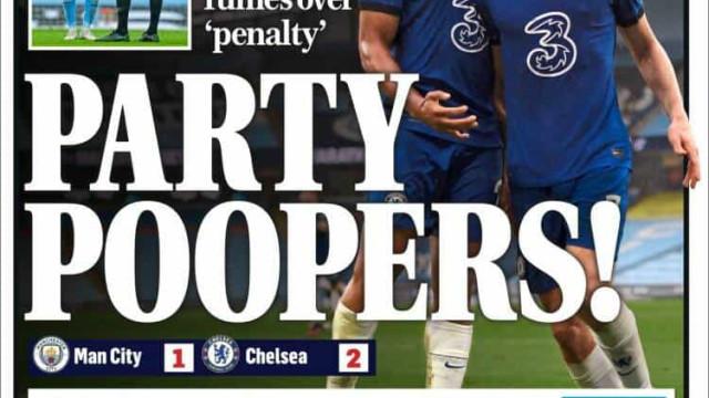 Lá fora: Chelsea adia festa e título ao rubro em Espanha