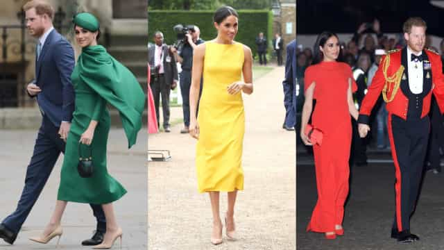 Dez visuais coloridos e elegantes de Meghan Markle