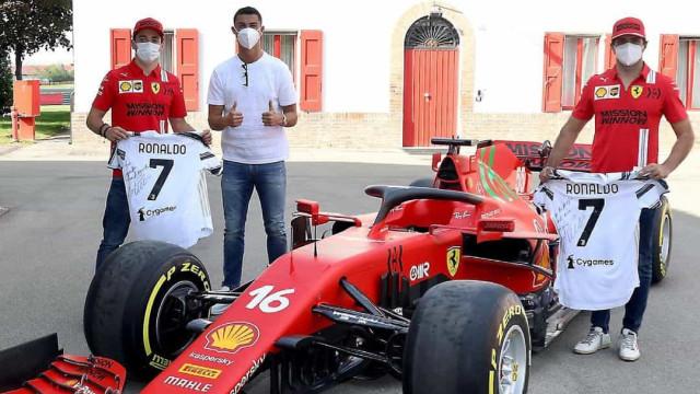 Ronaldo surpreendeu pilotos da Ferrari e não foi de mãos a abanar