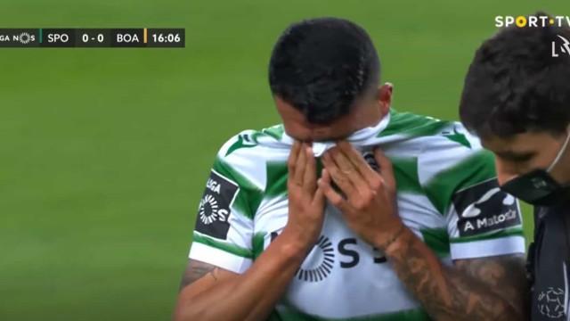 Porro saiu lesionado e em lágrimas do Sporting-Boavista