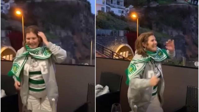 Festa do Sporting na Madeira: Dona Dolores cantou e dançou (muito)