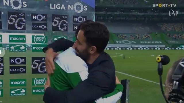 """Rúben Amorim para Paulinho: """"Agora podes dizer que foste barato..."""""""