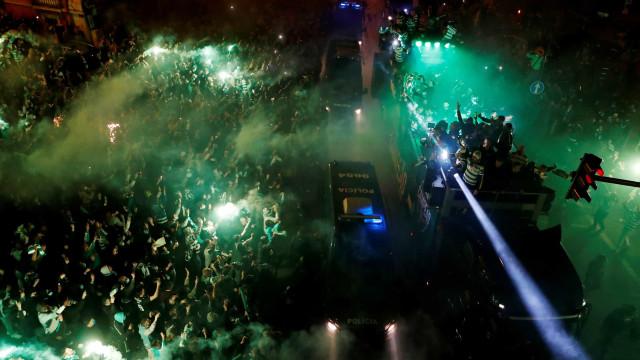 Sporting campeão: O resumo da festa que durou a madrugada toda