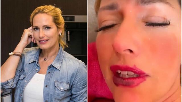 """Vídeo. Fernanda Serrano serviu de """"cobaia"""" para a filha... e acabou assim"""