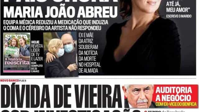 Hoje é notícia: Dívida de Vieira investigada; Aumentam casos de cancro
