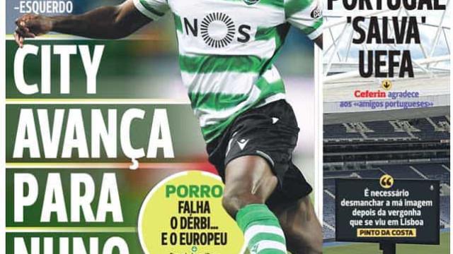 Por cá: Dérbi já aquece e Manchester City avança por Nuno Mendes
