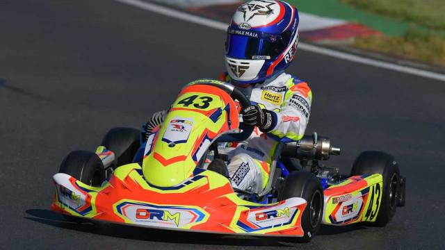 Jovem Rodrigo Seabra já dá cartas no karting no Reino Unido