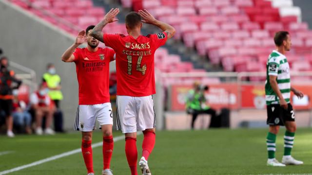 [3-1] Benfica-Sporting: Encarnados em vantagem ao intervalo