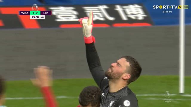 Incrível: Alisson saiu da baliza e ofereceu a vitória ao Liverpool