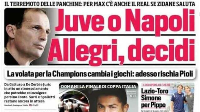 Lá fora: Futuro de Cristiano Ronaldo não passa despercebido em Itália