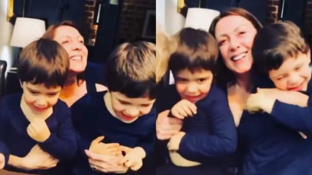 Nora de Maria João Abreu divulga vídeo ternurento da atriz com os netos