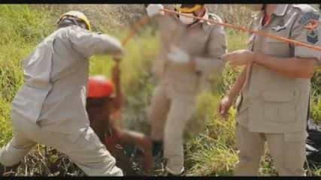 Brasil. Criança resgatada de cisterna após queda de oito metros