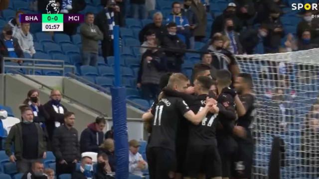 Gundogan volta aos golos e adianta o City na deslocação a Brighton